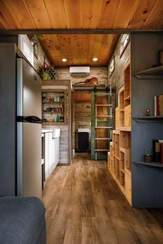 From Habeo Tiny Homes: a beautifully designed tiny house with a modern/rustic look and 285-sq-ft of space!