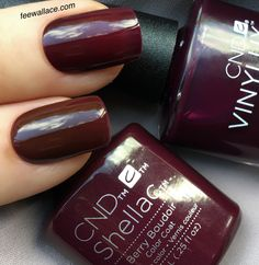 CND NIGHTSPELL collection Berry Boudoir in Shellac and Vinylux by Fee Wallace