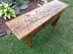 Reclaimed Barn Wood rustic shaker style Bench by LotusWoodcrafts