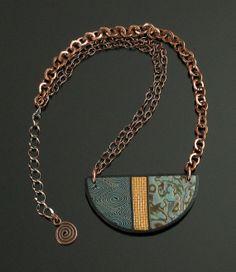 Statement Necklace Polymer Clay Jewelry Bib by mindfulmatters