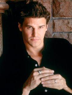 "David Boreanaz circa the late 90's in ""Buffy""...the original beautiful, brooding vampire"