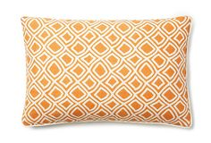 Diamond Wave 12x18 Pillow, Orange