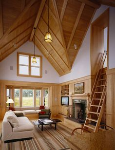 Living Room Cathedral Ceiling Design, Pictures, Remodel, Decor and Ideas - page 8
