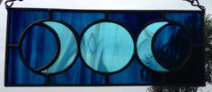 This is one of my favorites on Wiccan Supplies, Witchcraft Supplies & Pagan Supplies Experts-Eclectic Artisans: Dark Blue on Light Blue Triple Goddess Mini Panel