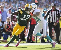 Davante Adams (#17), Wide Receiver, has a breakout Performance in Packers Win Over the Miami Dolphins in Week 6 of the 2014 season
