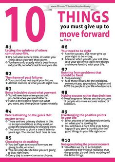 Things You Must Give Up to Move Forward