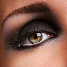 Close up of smokey eyes - Difference is white eyeliner in the inner eye to break up the charcoal @J A Double Bay Hair & Beauty