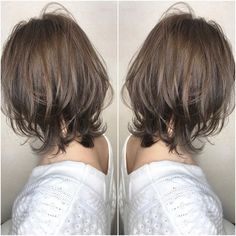 Pin on 髪型 Medium Hair Styles For Women, Haircuts For Medium Hair, Short Shag Hairstyles, Short Hair With Layers, Layered Hair, Short Hair Cuts, Pelo Midi, Love Hair, Hair Day