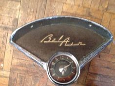 Oem 1955-56 chevy bel air #radio #speaker #bezel with clock rat rod,  View more on the LINK: http://www.zeppy.io/product/gb/2/322096248501/