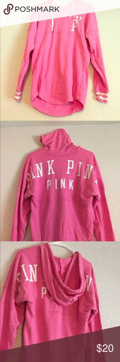 VS Pink pullover hoodie Lightly worn Victoria's Secret PINK sweatshirt PINK Victoria's Secret Other