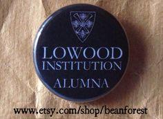 lowood institution alumna (Jane Eyre, Charlotte Bronte). $1.50, via Etsy.