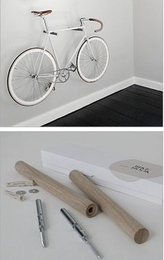 Fahrrad Bike mount Ottoman – Enjoy And Relax In The Luxurious Couch An Ottoman is a piece of furnitu Outdoor Bike Storage, Indoor Bike Rack, Bike Storage Rack, Rack Velo, Bicycle Rack, Wall Mount Bike Rack, Bike Mount, Bike Hanger Wall, Diy Bike