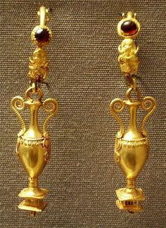 Roman Earrings  British Museum  Damascus 150-50BC