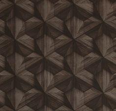 Sample Geo Modern Wallpaper in Dark Brown from the Loft Collection by Burke Decor Brown Wallpaper, Home Wallpaper, Contemporary Wallpaper, Home Room Design, Burke Decor, Linen Bedding, Bed Linens, Geometric Designs, Room Decor Bedroom