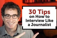 30 Pro Reporting and Interviewing Tips for Content Marketers  ||  These are some top tips for interviewing and reporting from journalists themselves�everything from rebooting a failing interview to getting the soundbites you want. See the article and video. https://www.marketingprofs.com/video/2017/32907/30-pro-reporting-and-interviewing-tips-for-content-marketers?utm_campaign=crowdfire&utm_content=crowdfire&utm_medium=social&utm_source=pinterest