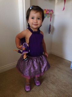 Toddler Outfit! Princess Jasmine Inspired! Purple Lum top, Cherokee skirt and Stride-Rite sparkle shoes!