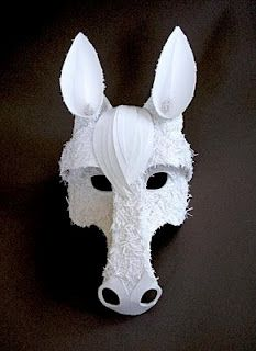 Make your own horse mask from cardboard digital download diy if i costume into the woods again ill make the wolf like this solutioingenieria Gallery