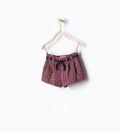 372da653c39 Image 1 of Structured tie-up Bermuda shorts from Zara Organic Baby, Βερμούδα ,