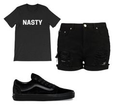 """""""Nasty"""" by ashleejosias23 on Polyvore featuring Vans"""
