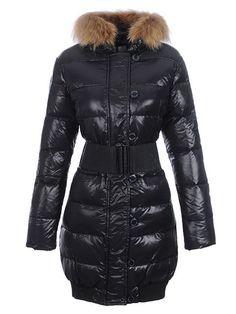 responsible to provide Moncler Lucie New Pop Star Super Fur Collar Coats  Black - $245.65 Moncler