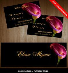 Cartão de visita para floricultura - Free by Creativstemplates