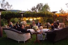 Great outdoor cocktail reception