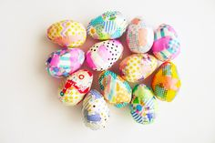 Washi tape Easter eggs | My Life As A Magazine.