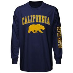 Cal Bears Navy Blue Big Arch N' Logo Long Sleeve T-Shirt