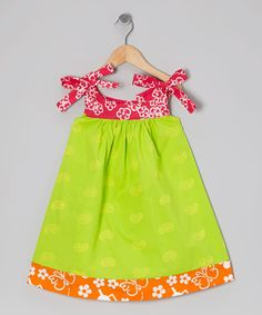 Look at this Young Colors Lime Green Paisley Peggy Swing Dress - Infant, Toddler
