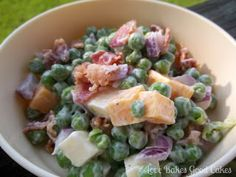 Love Bakes Good Cakes: Creamy Pea Salad