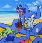 Great fun, the blue girls by Marc Jesús Vives, Menorca