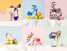 Loeffler Randall Branding via Roandco Studio We created an overall brand aesthetic that aligns itself with the company's clientele, embodying understated elegance and downtown cool. Launched in Object Photography, Still Life Photography, Product Photography, Creative Photography, Photography Ideas, Shoes Editorial, Fashion Still Life, Shoe Display, Photography Accessories