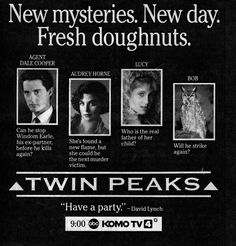 stop what you're doing right now. enough with the pinterest. get on netflix and watch every episode of twin peaks. just do it. trust me. you wont regret it.