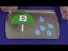 Umbrella & Raindrop Number Match Activity (see site for pattern…