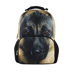 whosepet German Shepherd Dog printing backpack 3d animal backpack bag for kids German Shepherd school bag free shipping-in Casual Daypacks f...