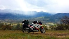 86 Honda VF750 Interceptor, Oregon/California Border. Spring 2014