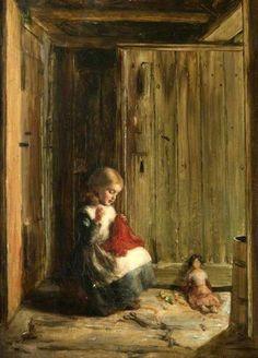 Mothers Help, Hugh Cameron (1835 – 1918, Scottish) I AM A CHILD, children in art history, blog