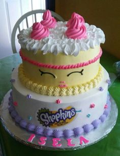 Shopkins chantilly cake