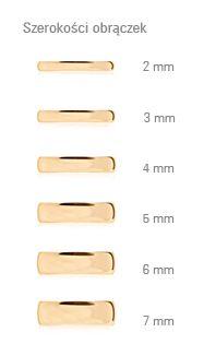 Złote obrączki klasyczne polerowane (szerokość 5 mm) (701 - 43812) - Obrączki - Złoto - Żółte - 5 mm - Ślub - YES