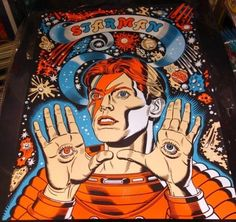 MITCH O'CONNELL Spaceman David Bowie Starman Silkscreen poster Signed New Free