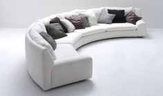 Semicircular sofa / modular / contemporary / fabric BEN BEN by Cini Boeri Arflex Gebogenes Sofa, Sofa Furniture, Furniture Makeover, Living Room Furniture, Furniture Design, Modern Furniture, Couches, Distressed Furniture, Furniture Outlet