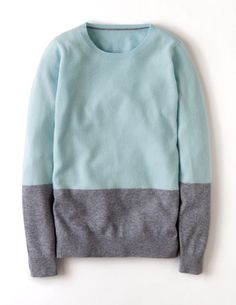 Cashmere Colourblock Jumper I need several of these for work, riding and r&r love love cashmere !
