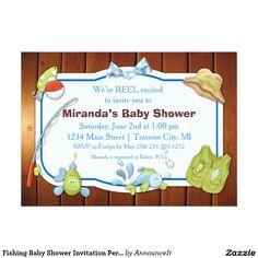 Fishing Baby Shower Invitation Personalized Invite
