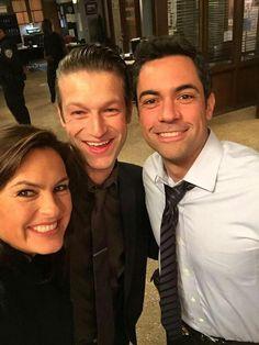 Mariska Hargitay, Peter Scanavino & Danny Pino in Law and Order SVU