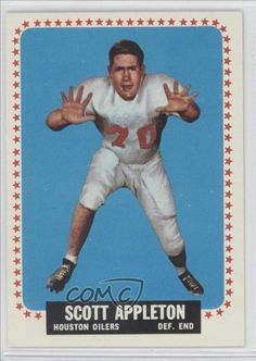 Scott Appleton RC (Rookie Card) Houston Oilers (Football Card) 1964 Topps #66 by Topps. $2.70. 1964 Topps #66 - Scott Appleton RC (Rookie Card)