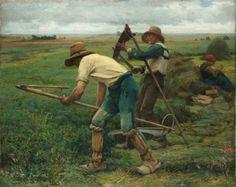 Julien Dupré. Les faucheurs de luzerne (1880)