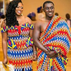 ❤️💛💙Congratulations to the super gorgeous Rebecca and her handsome beau Derrick. Truly a match made in heaven. God bless your union now and always hun. Bride beautifully adorned in her gorgeous beaded kente outfit by Photography by Makeup by African Fashion Designers, African Inspired Fashion, African Men Fashion, Africa Fashion, African Fashion Dresses, Fashion Tips For Women, Men's Fashion, African Outfits, Fashion Outfits
