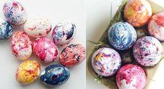 Luăm un ou fiert, ulei de floarea-soarelui... Un mod simplu și frumos de a vopsi ouăle de Paști. - Fasingur Easter Eggs, Origami, Home, Origami Paper, Origami Art