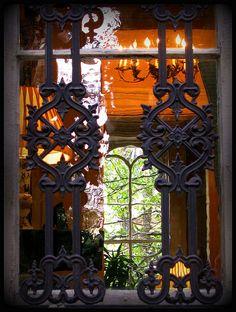 Window at The Mercer House - Savannah, GA.