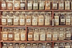 Lancaster Central Market- the shelves of one of my favorite places... the herb shop.  been going there for decades!